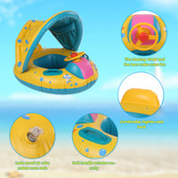 Wholesale pool safe - Safe Inflatable Baby Swimming Ring Pool PVC Baby Infant Swimming Float Adjustable Sunshade Seat Swimming Pool Brinquedos 2018