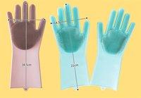magische handschuhe geben verschiffen frei großhandel-3 Farben-neue Reinigungsbürste-Silikon-Handschuh Säubern Sie das Badezimmerkoch und Haustierauto Magischer Handschuh für Stücke Freies Verschiffen