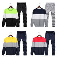 Wholesale ankle length clothing online - 2018 New Brand Designer Tracksuit Men Hoodie Higt Quality Mens Clothing Sweatshirt Pullover Casual Tennis Sport Tracksuits Sweat Suits