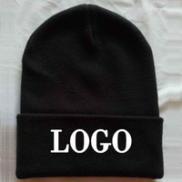 Wholesale logo knit caps - Free Logo Embroidery Normally Adult size skull caps Custom Candy color hats Winter Beanies Casual Warm Beanie Hip hot Knit Hats from 10pcs