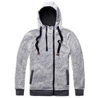 jaque hoodies venda por atacado-Jack Cordee poliéster Novo Outono Inverno Moda Hoodies Dos Homens Zíper Duplo Fino Camisolas Masculinas Sólida Casual Casaco Com Capuz