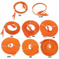 3m lan kabel großhandel-0,5 m 1 m 2 m 3 m 5 m 1000 m Gigabit-Hochgeschwindigkeits-RJ45-CAT6-Ethernet-Netzwerk-Flach-LAN-Kabel UTP-Patch-Router-Kabel