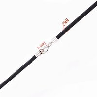 Wholesale necklace connector clasp - Black Rubber Cord Neckalce 2.0mm with 925 Sterling Silver Connectors & Clasps for Men Women Chains Rope Thread 12pcs lot