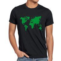 shorts herren al por mayor-Sheldon World Map Herren Camiseta grande Weltkarte leonard cooper bang tbbt theory Camiseta Casual manga corta para hombres Ropa Verano