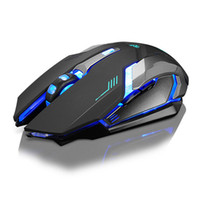 usb mouse al por mayor-Recargable X7 Inalámbrico LED Retroiluminación Óptica USB Ergonómico Gaming Mouse Sem Fio Moda Computadora Juegos Mouse Para Pro Gamer