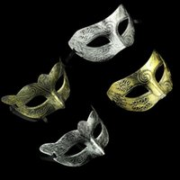 saia rosa vestidos venda por atacado-Máscara Greco-Romana Retro para o Carnaval Masquerade e Gladiador masquerade Máscara de Ouro / Prata Masquerade Carnaval Máscaras de Halloween