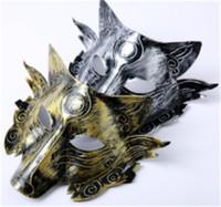 maskeli parti süslemeleri toptan satış-Parti maskesi Kurt Maskesi Cadılar Bayramı hediyeler Masquerade Parti Maskeleri Kostüm Kurtlar Topu Bar Dekorasyon için unisex Parti Kostüm