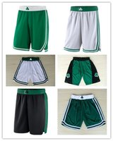Wholesale authentic shorts - 2018 HOT SALE New Season Authentic BOS Running Basketball Jersey Shorts Boston state Men and youth Celtics Short Jerseys