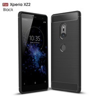 Wholesale compact carbon - Ultra Slim Thin Brushed Carbon Fiber Soft Case For Sony Xperia XZ2 XZ2 Compact XA2 Ultra L2 XA1 Ultra XZ1