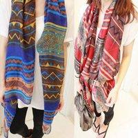 ingrosso sciarpa lunga in boemia-Nuove sciarpe della sciarpa lunga della stampa della donna di tendenza della Boemia d'avanguardia dell'involucro signore grandi stole graziose della sciarpa