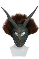 Wholesale Movie Shows - Erik Killmonger Mask Wig Movie Black Panther Cosplay Helmet Party Costume Props for Men Halloween Party Show Xcpser