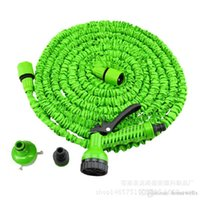 Wholesale expandable garden - 3X Expandable Magic Flexible Water Hose with 7in1 Spray Gun Nozzle 25FT 50FT 75FT 100FT 125FT Irrigation System Garden Hose Water Gun Pipe