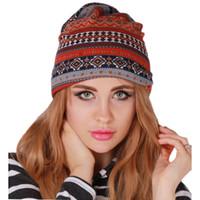 Wholesale earflap beanie women - New Autumn High Quality Warm Knitted Hats Crochet Beanie Winter Women Tube Woolen Hat Earflap Caps Scarf Hat DP661711