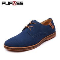 erkekler için ingiliz ayakkabıları toptan satış-Marka Erkekler Ayakkabı İngiltere Eğilim Rahat Ayakkabılar Erkek Süet Oxford Deri Elbise Zapatillas Erkekler Flats Artı Büyük Boy Snakers Adam