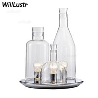 Wholesale Replica ITRE Guido Rosati Bacco design bottle table lamp fashion clear milk white glass desk light bedside sofa side hotel restaurant