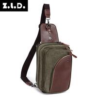 sacos de lona para homens venda por atacado-Homens pequenos de viagem casual sling messenger peito sacos homens saco de lona pacote de peito crossbody sling bag para ipad telefone 8654-39