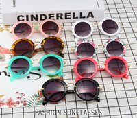 Wholesale sunglasses packs for sale - High Quality Personality Round Frame Glasses PC Metal Eye Protect UV Children s Sunglasses Individually Packed