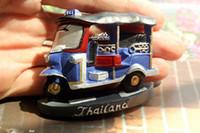 tourist gifts NZ - Thailand Tuk-Tuk Tourist Travel Souvenir 3D Resin Decorative Fridge Magnet Craft GIFT IDEA
