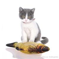 tabla de rascar al por mayor-Venta al por mayor 10PICs Cat Favor Fish Toy Toy Plush Stuffed Fish Fish Forma gato juguetes catnip Scratch Board Scratching Post para gato mascota suministros