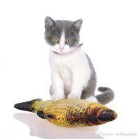 Wholesale pets stuffed animals online - PICs Cat Favor Fish Dog Toy Plush Stuffed Fish Fish Shape Cat Toys catnip Scratch Board Scratching Post For Pet Cat Supplies
