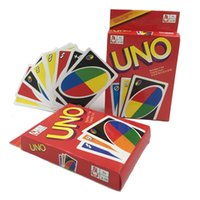 Wholesale domino game toys - Classic UNO Card Game Family Funny Entertainment Board Role Playing Games Poker Standard Edition Hot Sale 2 2zy WW