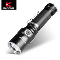 cree led kılıf toptan satış-Klarus ST15 1100LM Çift Anahtarı Su Geçirmez CREE LED El Feneri w / kılıf kordon