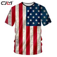 3d tshirt sexy großhandel-CJLM USA Flagge T-shirt Männer Sexy 3d T-shirt Druck Gestreifte Amerikanische Flagge männer T-shirt Sommer Tops Kurzarm T-stücke Plus Größe 7XL