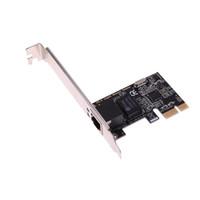 tarjeta de red pci e al por mayor-ASIGNADO PCIe Gigabit Ethernet PCI-Express Adaptador de tarjeta de red PCI-E Tarjetas de red RJ45 para Win10 / Win8.1 para el escritorio del servidor