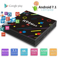 Wholesale Max Loads - H96 max android 7.1 tv box with rk3328 4GB 32GB dual wifi bluetooth fully loaded kd17.3 wonderful shape bet T95Z Plus
