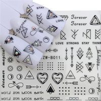 autocollants moustache achat en gros de-1 feuille ultra-mince adhésif 3D Nail Stickers barbe moustache eau Stickers transfert Nail Art décorations 53 * 61mm
