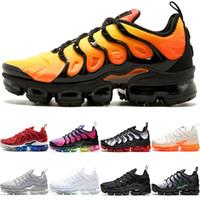 b8d397897f27 Cheap TN PLUS Mens Women Running Shoes Sunset BE TRUE Yellow Triple Black  White Hyper Red Men Trainer Sport Sneaker Size 5.5-11
