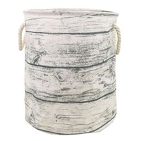 корзины с ящиками оптовых-2018 New Waterproof Cotton Linen Laundry Clothes Laundry Basket Storage Folding Box july31
