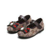 Wholesale sole cute for sale - Autumn Kids Girls Shoes Classic Canvas Cute Bowknot Bees Kids Princess Party Shoes Soft Sole Casual Shoe S46