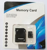 Wholesale genuine micro sd - 100% Real 8GB Micro SD Card full 8GB Memory Transflash TF SDHC Card Genuine 8GB w Adapter retail package 100pcs