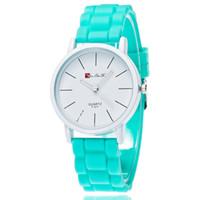 Wholesale Fashion Watchs - Wholesale Fashion Student Watch Casual Thin Women Wristwatch Rubber Strap Men Sport Watchs Korean Design Free Shipping