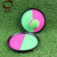 Wholesale horse housing - Ball Toys Sticky Target Racket Creative Outdoor Fun Sports Parent Child Interactive Throw And Catch Ball Games 4 8ff W