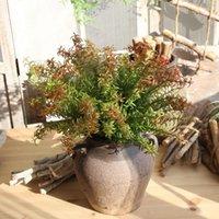 ingrosso piante artificiali da giardino pendenti-Pianta artificiale di alta qualità Parete di erbe di plastica ecologica d'attaccatura di erbe Piante succulente per la decorazione della tavola del giardino