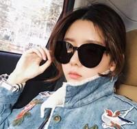 Wholesale black korean style glasses - the 2018 new glasses, Korean star, round face, polarized sunglasses Popular Luxury Women Brand Designer Summer Style Popular Luxury Women r