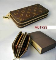 Wholesale Double Slots - Free shipping !!! 2019 new PU Leather mens and womens Double zipper wallets purse card Holders ( 4 style for choose )***mary718