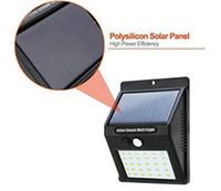 vallas de panel al por mayor-Impermeable 30 LED Paneles solares Potencia Potencia Sensor PIR Lámpara de pared Seguridad Ruta inalámbrica Patio Valla Luz nocturna Al aire libre