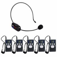 Wholesale tour guide transmitter resale online - Portable Wireless Tour Guide System Voice Transmission System For Meeting Training FM Transmitter Receiver Y4430A