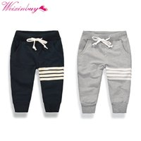 Wholesale baby sports trousers resale online - 2017 new Korean boy fashion leisure cotton Pants children active sports outdoor trousers drawstring casual pants Y baby boy