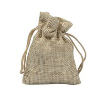 Wholesale custom drawstring bags - 7*9cm small Burlap Bags with Drawstring Gift bags Cotton linen jewelry bag custom size