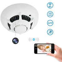 Wholesale dvr cctv ip wifi for sale - 1920 P Full HD Wireless Smoke Detector Wifi P2P CCTV IP Camera for iPhone C S Samsung HTC Tablet PC Smartphones DVR PQ133