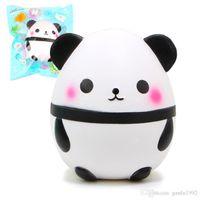 Wholesale panda birthday - 14cm Lovely Squishies Animal Cartoon Sweet Scented Soft Doll Anti Anxiety Simulation PU Panda Squishy For Birthday Gift 35mn CR