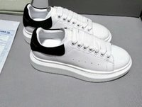 Wholesale Mens Winter Dress Shoes - 2018 Alexander MC Women Sneaker Designer Luxury Brand Man Casual Shoes Mens Womens Fashion Sneakers Womens Dress Shoe Flat Thicken Sole