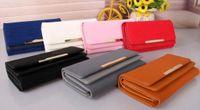 beaux sacs à main en cuir achat en gros de-2018 nouveau style féminin PU cuir grand portefeuille mode belle porte-cartes portefeuilles portefeuilles # 3016