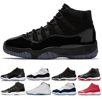 Wholesale Summer Caps For Men - 11 Prom Night Cap and Gown 11s basketball shoes for men women Sneaker gym red concord Midnight Navy bred legend blue sports shoes