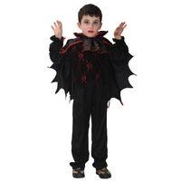 ingrosso costume rosso di pavone-Conte Dracula per bambini Costume cosplay di Halloween Per bambini Fancy Dress Boy's Carnival Party Outfit