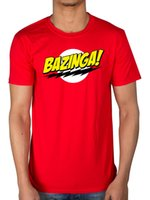 Wholesale big bang t shirts - Official Big Bang Theory Bazinga T-shirt Sheldon Cooper Joke Comedy American CBS